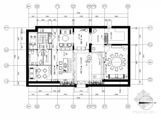 [北京]雅致新中式风格会所装修cad施工图(含效果图)