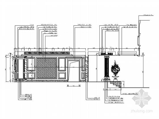 [重庆]高档豪华欧式风格酒店式别墅室内装修施工图(含效果图)-图5