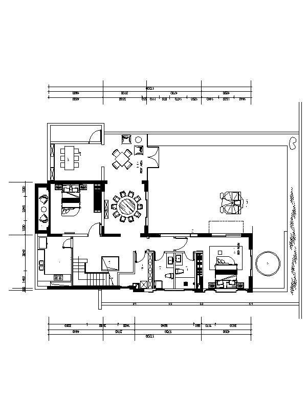 [西安]3层高档现代风格别墅室内设计施工图