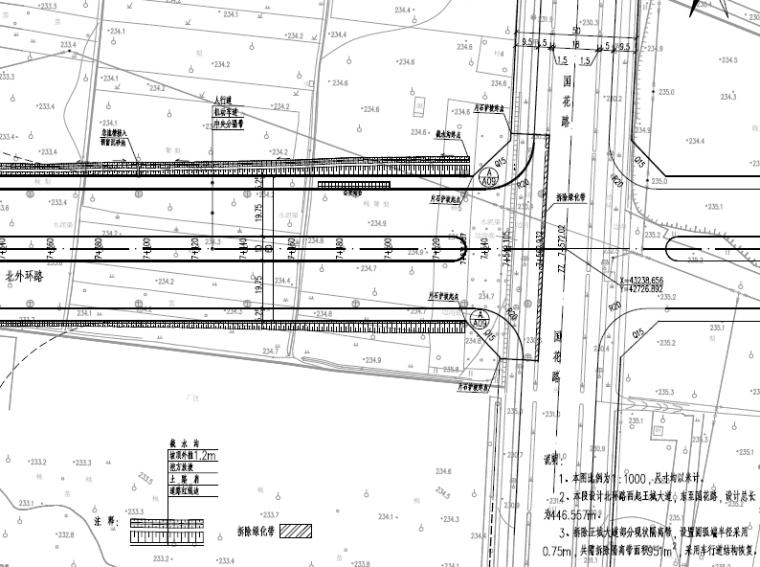 城市主干路工程全套施工图设计109张(道排交通消防)