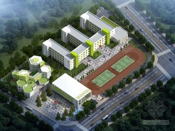 [浙江]现代风格蜂巢型幼儿园及小学部教学楼设计方案文本