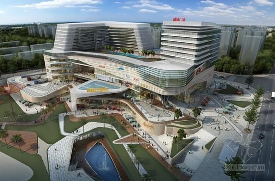 [湖南]11层现代风格商业综合体建筑设计方案文本