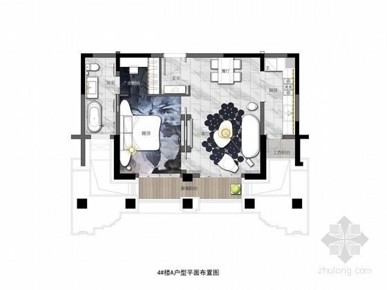 [无锡]现代风格60平米单身公寓室内设计方案图