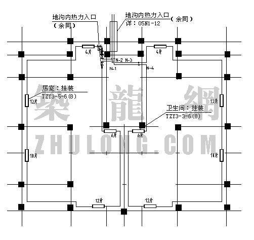 某住宅楼采暖分户计量改造工程设计图