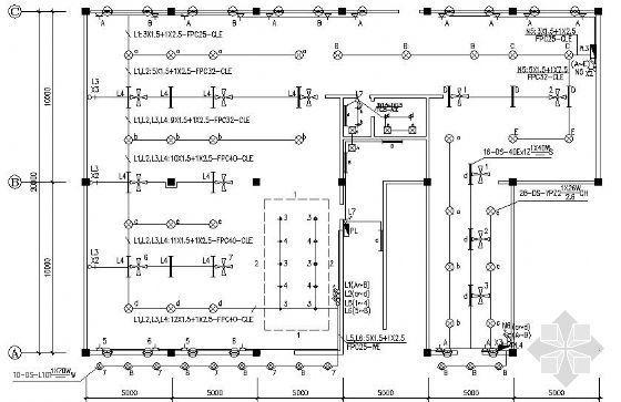广州某大型网吧电气施工图