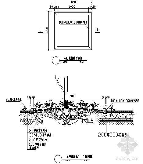 人行道树池详图-4