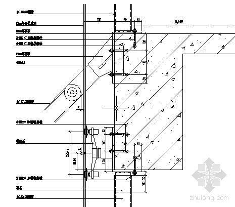 MQ1三层楼板纵剖节点图二