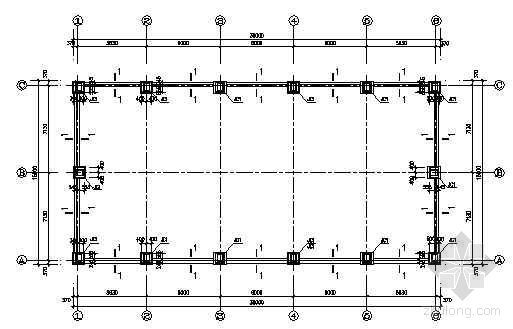 单层门式刚架展厅轻钢结构图