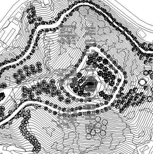 某市适中镇保丰公园绿化景观设计