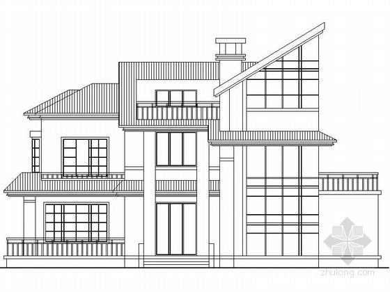 某二层大坡顶别墅建筑方案图