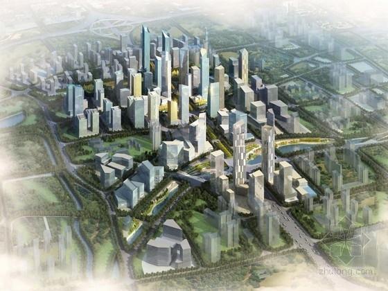 [北京]现代风格办公区规划及单体方案文本(知名建筑设计)