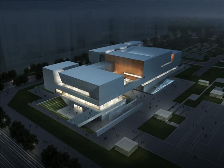 美术馆设计模型资料下载-[安徽]省级现代风格美术馆建筑方案设计竞标文本