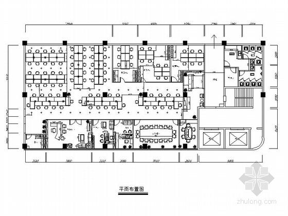 [上海]高档简约现代办公室室内装修施工图(含效果)