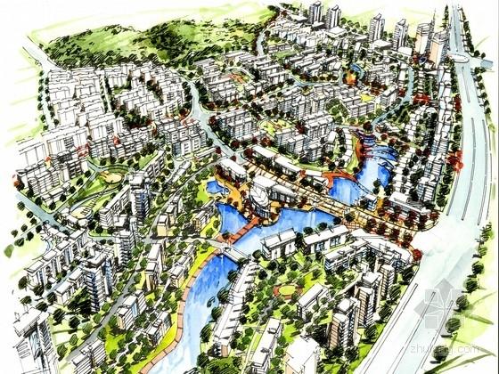 [广西]滨水绿城规划设计方案