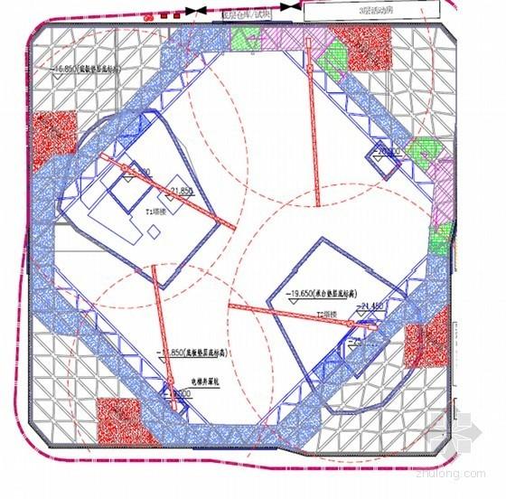 [浙江]深基坑排桩加三道混凝土支撑开挖支护施工方案(地标 专家论证 附施工图)