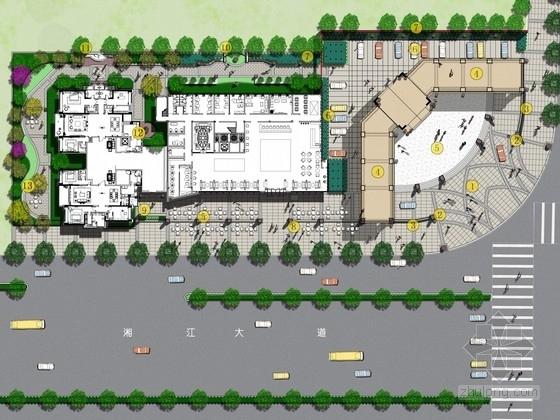 [湖南]城市中心商业广场景观规划设计方案