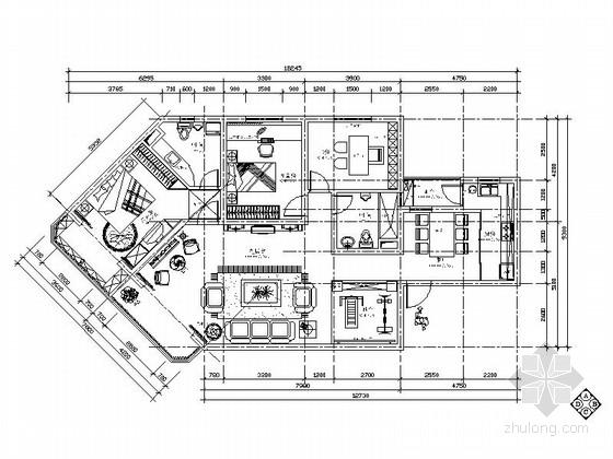 [上海]金色欧式风格两居室装修图(含效果图)