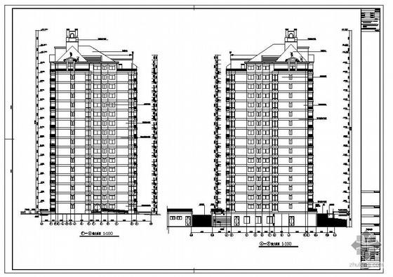 某大底盘高层建筑结构图
