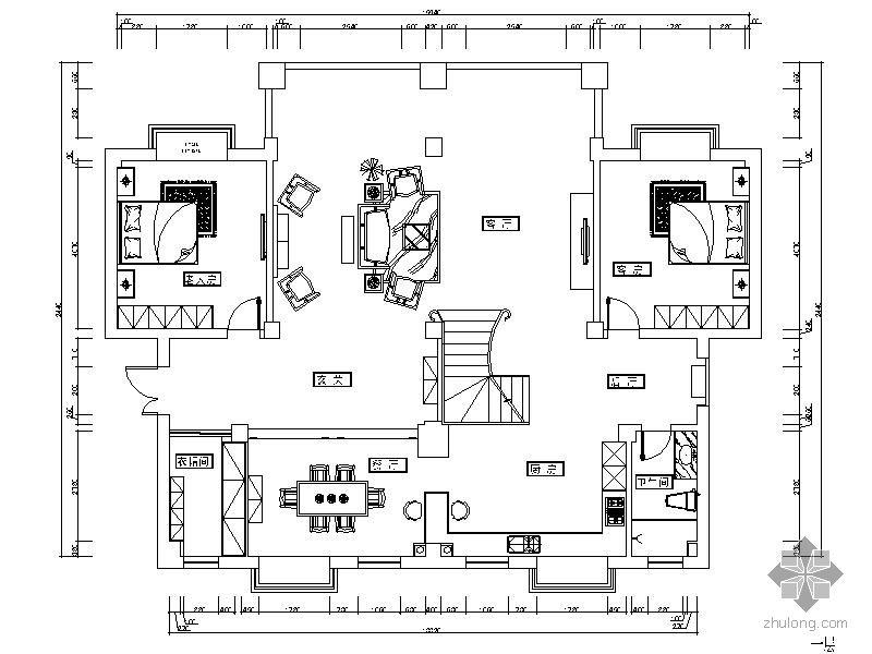 欧式三层别墅方案图-住宅装修-筑龙室内设计论坛图片