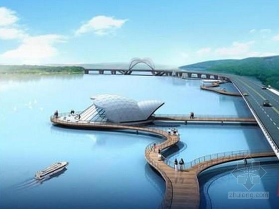 [湖南]湖边景观桥梁初步设计图329张(含人行桥拱桥 观景广场)