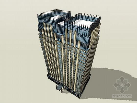 新古典风格办公楼建筑sketchup模型