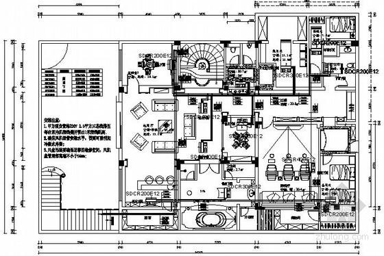 [上海]精品别墅空调设计施工图(地源热泵)