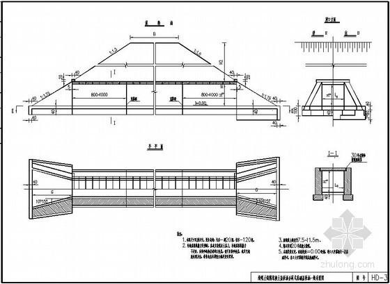 高填土钢筋混凝土盖板涵通用设计图
