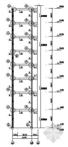 四川某钢楼梯结构施工图纸