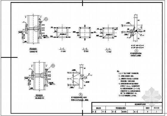 某钢结构焊接箱型柱拼接节点构造详图