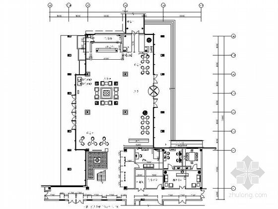 [青岛]度假酒店新中式风格大堂装修施工图(含效果)