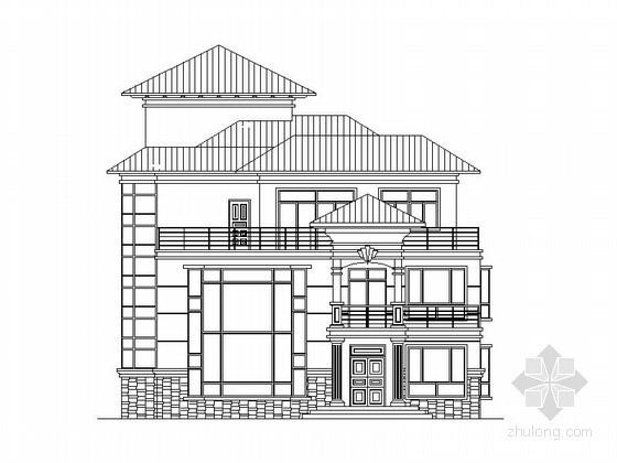 [仿古]某三层豪华中式别墅建筑施工图