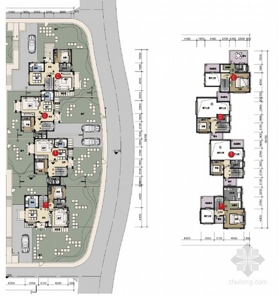 [大连]英式风情小镇住宅小区及商业规划设计方案文本-英式风情小镇住宅区及商业规划平面图