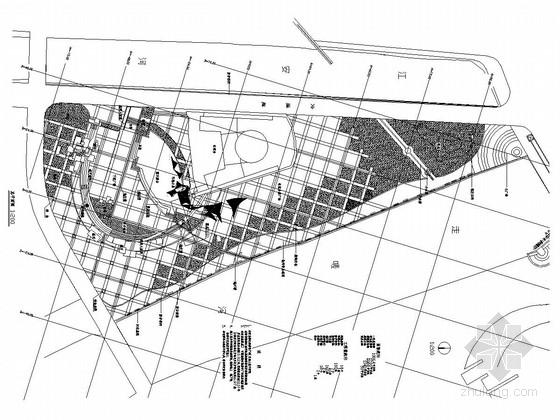 [成都]城市滨水广场景观设计施工图