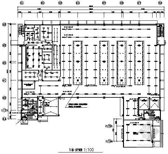 大型电子厂厂房全套电气竣工图纸120张