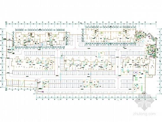 [山东]多层住宅小区采暖通风排烟系统设计施工图(含地库设计)