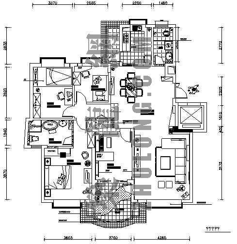四室二厅两卫装修图