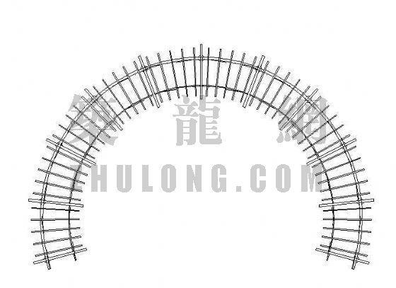 弧形花架施工图