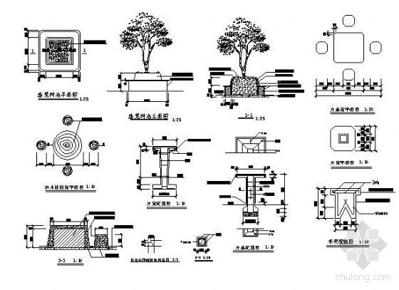 树池及座凳施工图