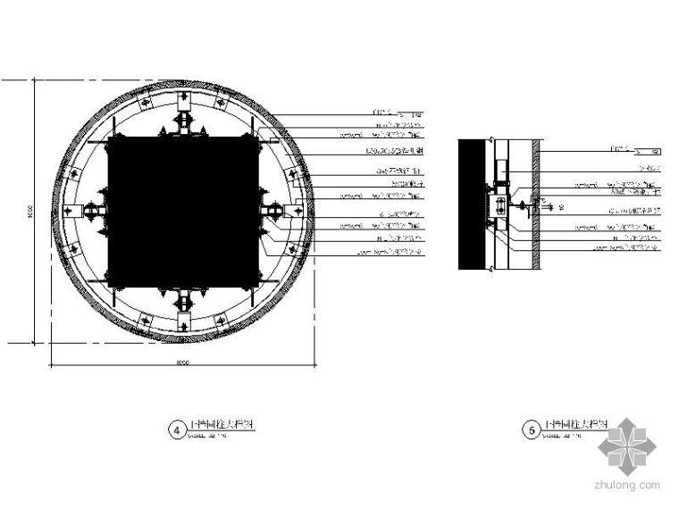 干挂大理石圆柱详图