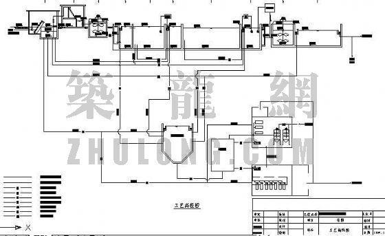 uasb工艺污水处理厂高程图资料下载-山东某造纸废水处理工艺高程图