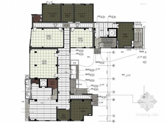 [广州]新中式风格财政投资中心事业单位设计方案图