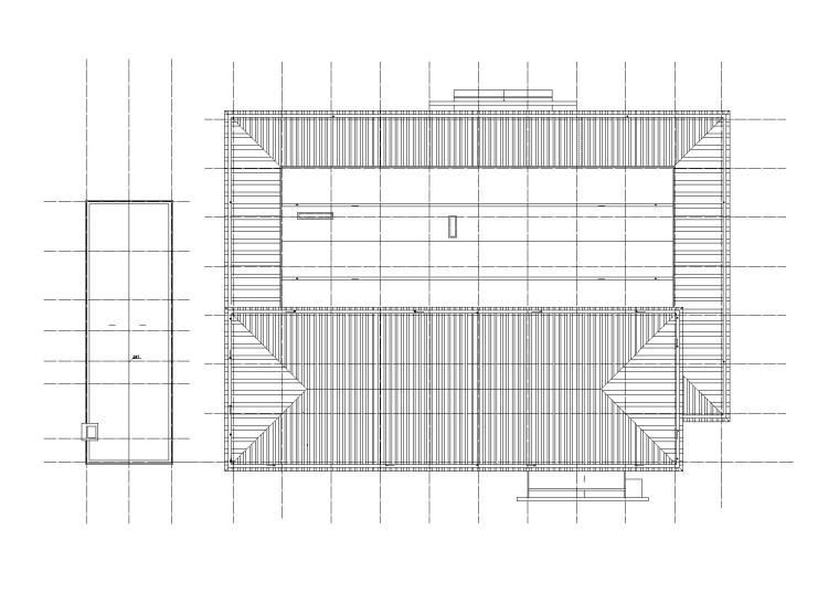 洛阳师范学院第一食堂屋顶平面图