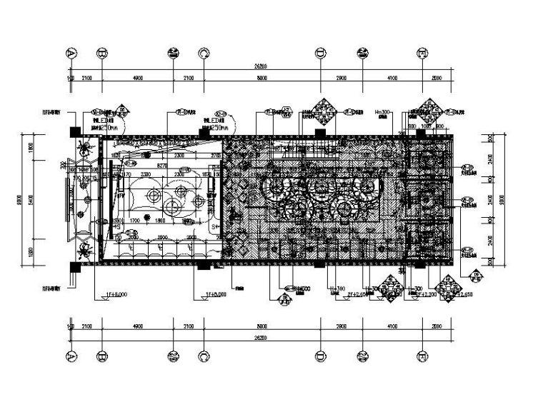 [宜兴]时尚优雅艺术茶餐厅设计施工图(含效果图)
