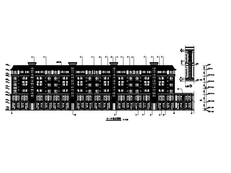 六層磚混結構塔式住宅樓建筑施工圖 含商業及效果圖 居住建筑 筑龍建