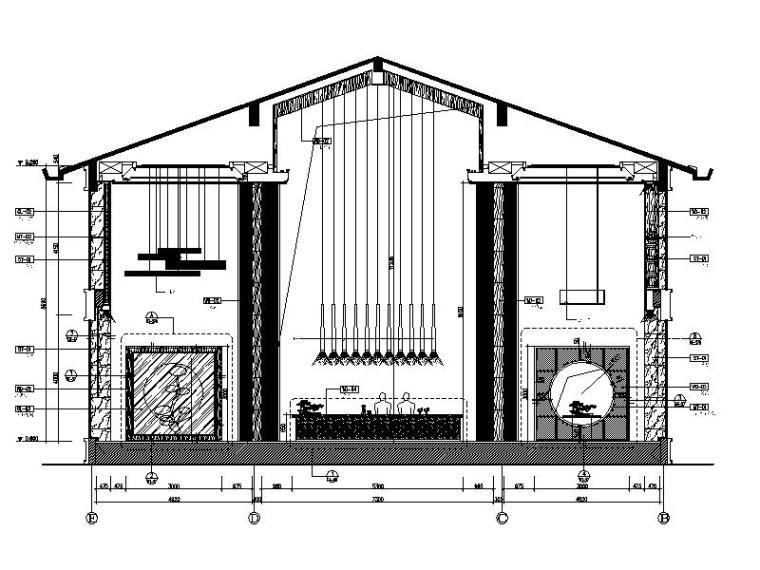 [成都]韵艺静雅中式风售楼处室内设计施工图(含实景图)_3