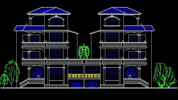 12套三层别墅设计方案施工图