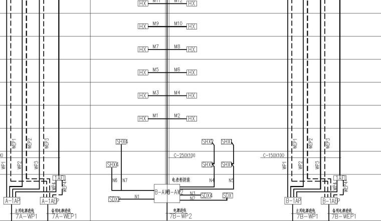 某19f住宅楼电气平面图