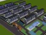 某林业局小区建筑模型设计