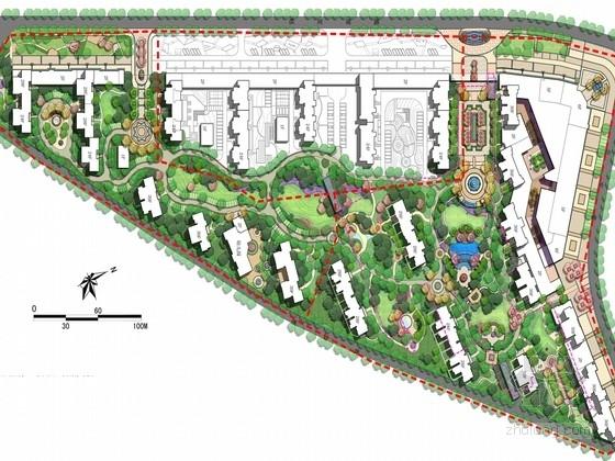 [山西]法式生活风情居住区景观规划设计方案