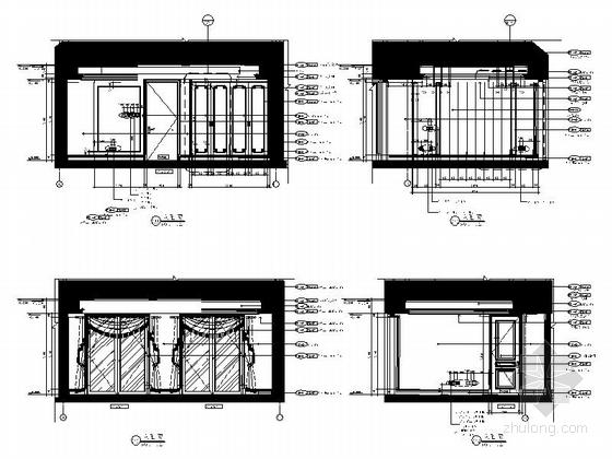 [杭州]欧式顶层大居室样板房设计装修图客卧立面图